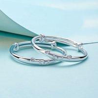 Estilo moda europa senhora américa tesouro pulseira de prata zodíaco rato sólido 999 prata pulseira recém-nascido lua cheia aniversário giftogold neckla