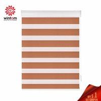 Stores manuel personnalisé manuel de taille zèbre lumière ombrage fenêtre chambre salon rouleau transparent dimmable