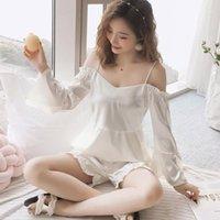 Silk Sexy женщины плюс размер пижамы лето пижамы наборы для женщин пижамы ночная рубашка горячая распродажа одежда1