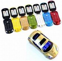 "Newmind F15 1.77 ""Flip Car-förmige Mini-Mobiltelefon Dual SIM-Karten-LED-Licht-FM-Radio-Bluetooth-LED 1500mAh-Handys"