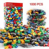 300/500/1000 Piezas Modelo de bricolaje Montaje Bloques de construcción conjuntos de ladrillos creativos niños juguetes educativos para niños Bloques de juguetes para niños Regalo Q0624
