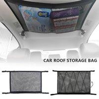 Car Organizer Ceiling Storage Net Universal Roof Cargo Mesh Bag Camper Van Caravan Pouch Interior Accessories
