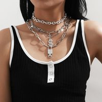 Chains Accessories Hip-hop Punk Dollar Star Chain Necklace Women Fashion Key Lock Set
