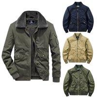 남자 폭탄 자켓 가을과 겨울 따뜻한 남자의 야구 재킷 최고 품질의 양털 캐주얼 그는 전술 겉옷 두꺼운 남성 코트 대형 m-5xl