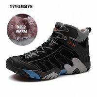 Novos botas ao ar livre masculinos Quente impermeável desgaste desgaste antiderrapante moda casual ferramentas sapatos M2ZW #