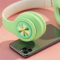 Bluetooth Headband Headset Auriculares Subwoofer Teléfono Móvil Regalo inalámbrico 4 Colores LED LED Luz Cómoda Snug Fit