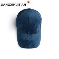 Jiangxihuuiano 2018 Velvet Boné de Beisebol Boné New Gorras Brand Paper Winterautum Hip Hop Flat Hat Casquette Bone Cap Homenwomen
