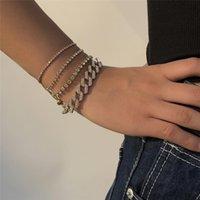 2020 mode glänzend kristall strass armbänder für frauen böhmen luxus einstellbar armband paar schmuck minimalistisch
