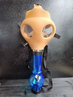 Gas Mask with Acrylic Smoking Pipe Silicone Pipe Oil Rig Smoke Pipe Smoke Accessory for wholesale gravhot selling