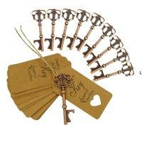 Ospiti Favore Opener Bottle Opener Wed Regalo Souvenir Forniture per feste Key con catena Novelty Ciondolo Decorazione di nozze LLE10237