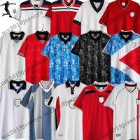كأس العالم الرجعية 2002 2006 UK Land Soccer Jersey 1990 Blackout الهريس يصل قميص كرة القدم 1998 روني لامبارد بيكهام أوين خمر 1980 1982 1992 1994 1994 1996 Scholes Shacerر