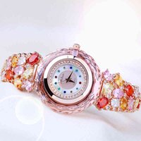 Designer luxo marca relógios senhora mulheres japão quartzo top moda vestido bracelete strass concha de cristal menina presente de aniversário
