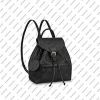 M45501 M45397 montsouris pm حقيبة المرأة حقيقية جلد البقر والجلود emobss قماش مشبك حقيبة الظهر حقيبة محفظة الكتف حقيبة