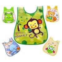 Baby Lätzchen EVA Kunststoff wasserdicht Burp Tuch Fütterung Lätzchen Cartoon Kinder Schürze Babador de Bebe