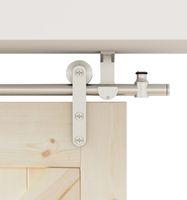Diyhd rostfritt stål takmonterad ladugård dörrhårdvara långremsor rullande inomhus spår kit