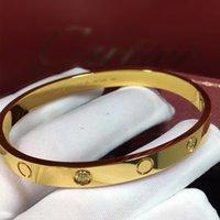 Liebhaber Armband für Männer Frauen Mädchen Designer Schmuck Armreif Armbänder Gold Luxus Tennis