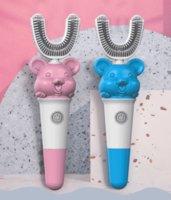 فرشاة فرشاة الأسنان البطارية الذكية U- نوع الأطفال، بما في ذلك أداة التنظيف بالموجات فوق الصوتية التلقائي وتبييض أداة تفريش السيارات
