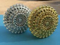 Geschenk Wrap 100 stücke Luxus Goldene Silber Pfau Runde Süßigkeiten Box Schatztruhe Hochzeit Favor Party Supplies