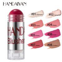 Makeup Chubby Blush Stick Long-lasting Natural Highlight Contour Moisturizing Smooth Rouge Pencil Easy to Wear Coloris Handaiyan Make Up Blushes