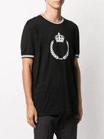 Classic Crown King Stylist hombres camisetas # 001 Europa Moda Moda de verano Manga corta Luxury Royal Streetwear Tops Designer Macho Casual Tees