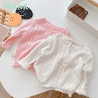 Pull 1-4Y Été Baby Boy Girl Girl Coton Hollow Hollow House Pull Pull Manteau Kid-Climatisation Cardigan Mince respirante