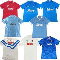 En 86 87 88 89 Napoli Retro Formalar Maradona Futbol Forması 1986 1987 1988 1989 Napoli Futbol Gömlek Vintage Klasik Maillot De Ayak