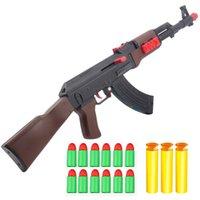 Пластиковый ручной AK47 Мягкая резиновая шаровая пуля игрушка винтовка Airsoft стрельба оружие для детей детей мальчиков подарки Armas