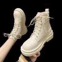 Boots Women Ankle Lace Up Flat Heel Ladies Short Fashion Casual Winter Shoes Daily Footwear Size 35-39