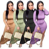 Womens Marke Kleid Einteiler Set Langarm Sommer Lässige Rock Designer Maxi Kleider Hohe Qualität Elegante Luxus Clubwear Frauen Kleidung KlW6240