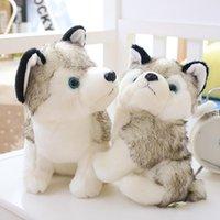 Husky Köpek Peluş Bebek Oyuncakları Hediyeler Çocuk Noel Hediyesi Dolması Hayvanlar Bebekler Çocuk Oyuncak 18-28 cm Ev Dekorasyon RRE10274