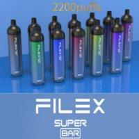 Original QST VAPOR Flex SUPER BAR Disposable E-cigarette Device 2200 Puffs 1250mAh Battery Prefilled 6.5ml Pod Vape Pen Authentic VS Plus Max