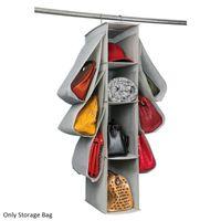 Storage Bags 10 Pockets Large Capacity Bedroom Hanging Closet Bag Purse Handbag Organizer Blankets Dustproof Towels Non Woven Fabrics