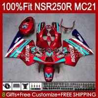 Injektion für Honda NSR250R MC21 PGM3 NSR250 103HC.190 Metallrot NEU NSR 250 R NSR 250R 90 91 1992 1993 NSR250RR 1990 1991 92 93 OEM-Verkleidung
