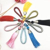 Puntada de punto de cruz llavero trenzado multicolor cuerda cuerda colgante hecho a mano china festival colgante llavero accesorios