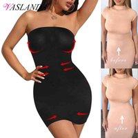 Kvinnor Shapewear Stropless för under Klänningar Tummy Control Slips Slimming Kjolar Full Body Shaper Seamless Underkläder