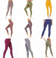 lulu lululemon lemon Pantalons de yoga pour femmes Haute élastique Lu Fabricant Tissu FabricGings Léger Nu Sensation de Yoga Pantalon de Yoga Port de Fitness Port Mesdames Marque