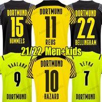 Haaland Soccer Jerseys Player 2021/22 Reyna Reus Bellingham Shirts Shirls Hummels Brandt Hazard Jersey Guerreiro EMRE يمكن الرجال الاطفال كيت camiseta de futbol