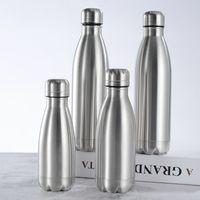 350 500 750 1000 ml de bouteille d'eau en acier inoxydable portable BPA eau sans biberon biberon gym sport cyclisme boissons enfants cadeaux scolaires