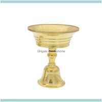 Holders Décor & Gardenmulti-Size Copper Alloy Candelabrum Candle Holder Collectable Party Decor Home Retro Craft Durable Candlestick Drop De