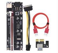 PCI-E RISER 009S Plus PCI-E 1x a 16x Slot Scheda riser 60cm USB 3.0 Cavo rosso 4pin 6 Pin SATA Potenza per l'estrazione mineraria