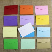 Gift Wrap 14pcs Kraft Paper Bag Bags Candy Color Envelope Package Supplies Wrapping