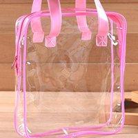 Gift Wrap Quevinal Travel PVC Cosmetic Bags Women Transparent Clear Zipper Makeup Organizer Bath Wash Make Up Tote Handbags Case