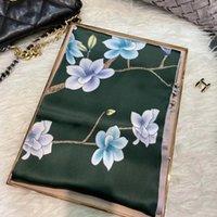 Scarves Fall Winter100% Silk Shawl Scarf Fashion Brand Bottons Long Wraps Spring Women Luxury Pure Tippet Foulard