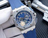 JF Mens Часы Высококачественные роскоши Часы 3126 Полностью автоматическое механическое движение Размер 44 * 13 Сапфировый кристалл стальной корпус Птичка