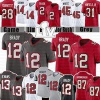 12 Tom Brady Erkek Kadın Gençlik 87 Rob Gronkowski Mike Evans Futbol Jersey Chris Devin Beyaz Godwin TampaDefneKorsan81 kahverengi