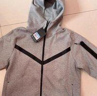 Black Grey Space Algodão Homens Esportes Com Capuz Jacket Tech Tech Fleece Casual Com Capuz Jaqueta Jaqueta Jaqueta Comprimento Completo Cardigan Hoodie Cu4490