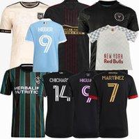 2021 2022 La galaxia Ciudad de Nueva York Rojo Atlanta Unida Miami Los Angeles FC Jerseys de fútbol Higuain Vela Matuidi 21 22 Camisa de los niños de los hombres de fútbol