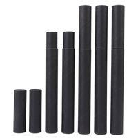 Black Kraft Papel Tubo de incienso Incienso Barril Pequeño Caja de almacenamiento para lápiz Joss Stick Conveniente LEVANTE 20.7x2.1cm LX2411 42 V2