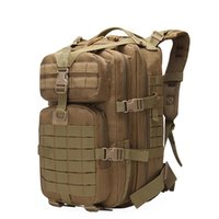 Tactical Backpack Military Army Molle Rucksacks 3P EDC Assault Outdoor Camping Hiking Hunting Large Capacity Camo 50L Bag 210304