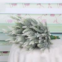 Flores artificiales de la lavanda Flor de alta calidad para la decoración del hogar de la boda, grano decorativo, decorativo, flores de seda, envío gratis GWD5450